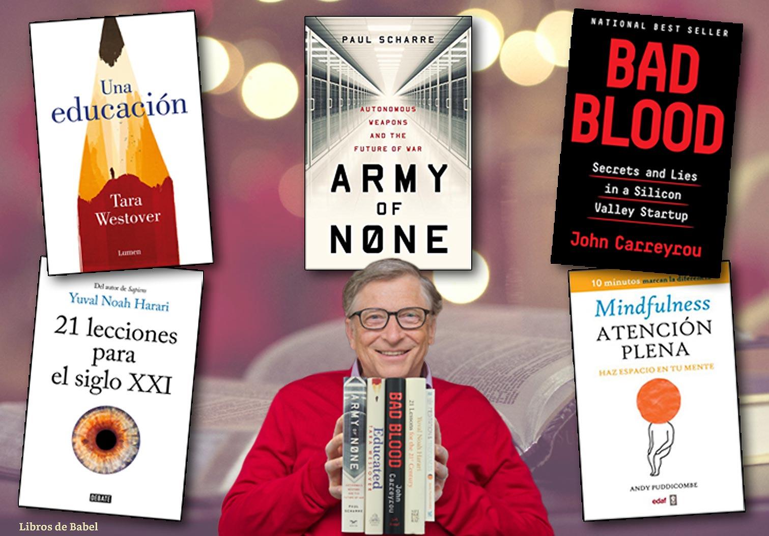 Bill Gates elige sus libros favoritos de 2018